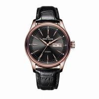 Reef Tiger Classic Serier RGA8232 Men Fashion Business Ultra Thin Waterproof Automatic Mechanical Wrist Watch Leather