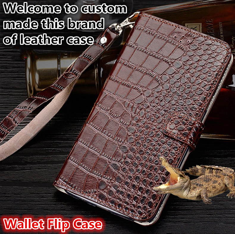 ZD13 Genuine leahther wallet flip case with hand strap for HTC U11 Eyes phone case for HTC U11 Eyes flip case free shipping
