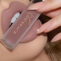 Matte Liquid Lipstick Waterproof Long Lasting Velvet Mate Nude Red Lip Gloss Lint Tube Makeup Cosmetics Lipsticks|Lip Gloss|   -