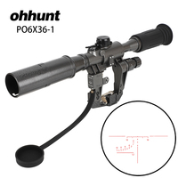 ohhunt Hunting Tactical POS 6X36 1 Red Illuminated SVD SKS AK Rifle Scope Sniper RifleScope Made in China Free Shipping