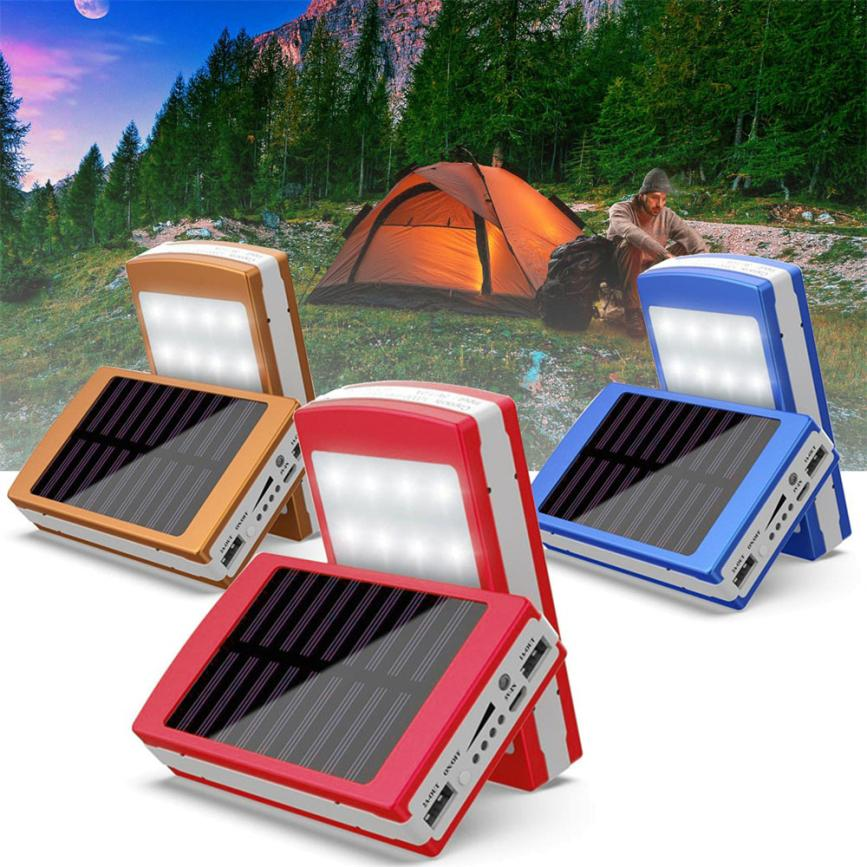 Binmer Convenience Solar LED Portable Dual USB Power Bank 5x18650 External Battery Charger DIY Box Case 18Mar27