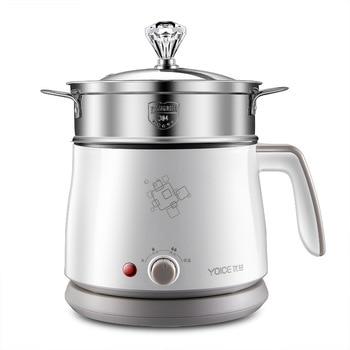 Kbxstart 1.5L Multifunction Electric Cooking Pot Heating Pan Noodles Rice Cooker Hot Pot Food Multi Cooker Machine Steamer 220V 2