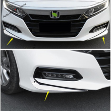 Yimaautotrims Front Fog Lights Under Protector Corner Bumper Cover Trim Fit For Honda Accord 10th 2018 2019 Chromium Styling