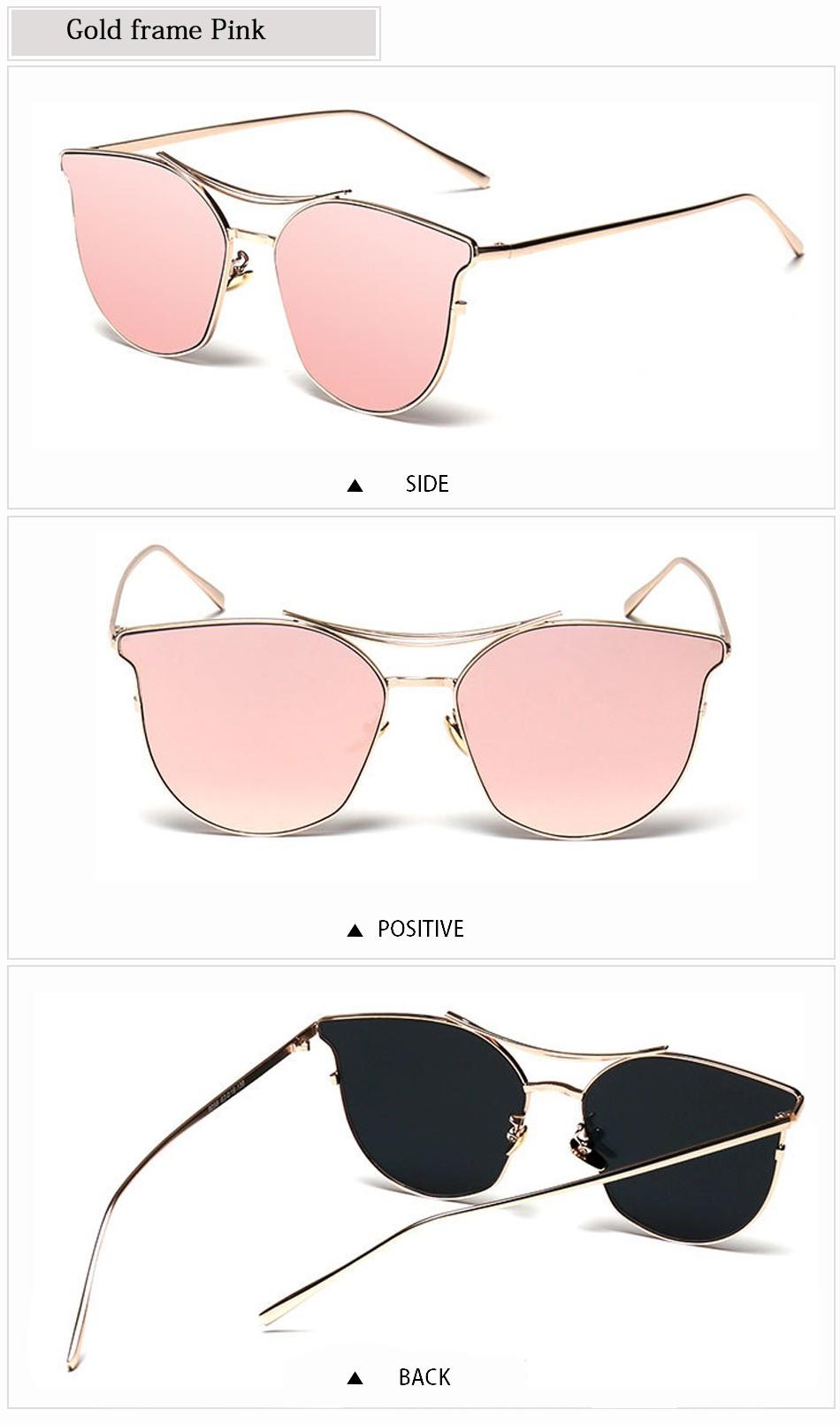 3859e450f6 FEIDU New Cat Eye Aviator Sunglasses Women Vintage Fashion Metal Frame Mirror  Sun Glasses Summer Style Ladies Sunglasses UV400. 1 2 3 4 5 6 07 08 09 010  ...