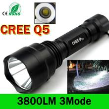 LED Flashlight 3800 lumens C8 Q5 LED Torch Q5 Led Hunting Torch 3Mode Camping Lantern Nitecore Waterproof For 1x18650