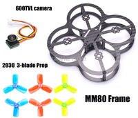 Tiny MM80 80mm Carbon Fiber Super Light Frame 600TVL 170 Degree Super Small Camera Support PIKO