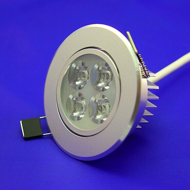 20 шт./лот 4*3 Вт downlight Epistar потолочный светильник Встраиваемые пятно света 110 В-240 В Бесплатная доставка