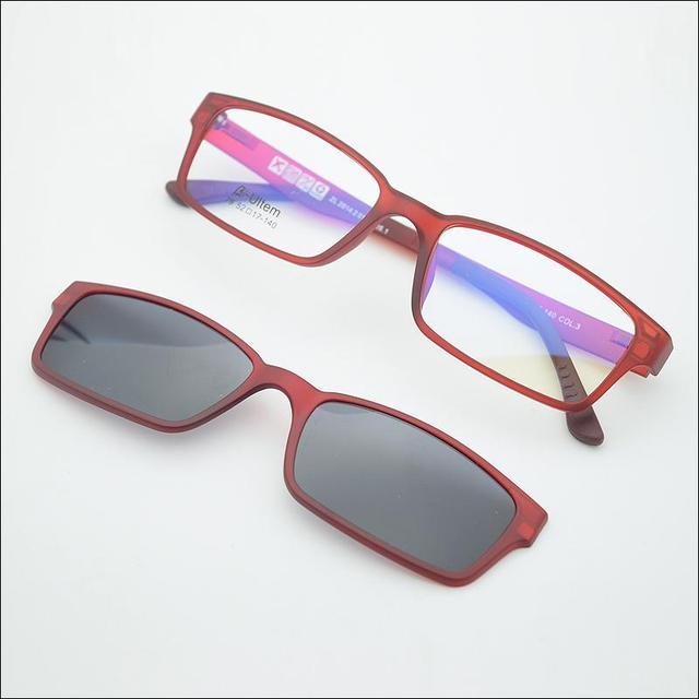 66524a41bd5 2015 new Lightweight ultem double glass frame with magnet clip sun glasses  polarized sunglasses jkk79 free