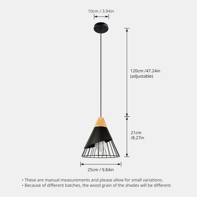 PHYVAL Pendant Lamp Modern E27 Pendant Lights Wood  For Bedroom Hanging Lamp Nordic Aluminum Lampshade LED Bulb Kitchen Light 5