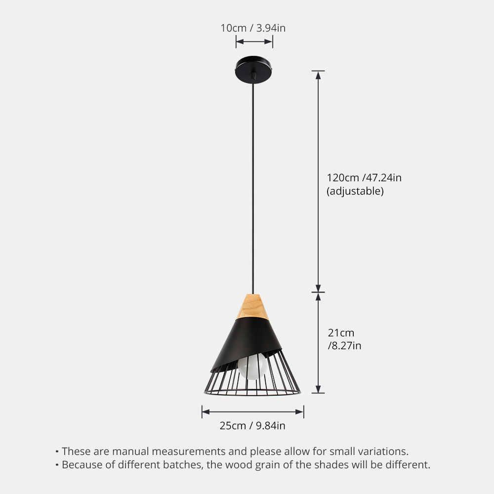 Lámpara colgante nórdica lámpara colgante para iluminación del hogar moderna lámpara colgante de aluminio bombillo LED para Tulipa Luz de cocina E27