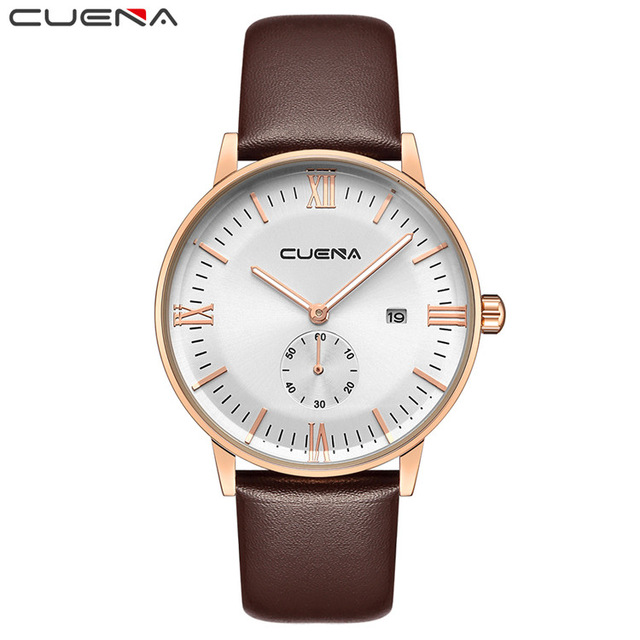 2018 Mens Watches CUENA Top Brand Luxury Casual Pilot Military Sport Wristwatch Men Quartz Watch Relogio Masculino Male CLock sinobi new slim clock men casual sport quartz watch mens watches top brand luxury quartz watch male wristwatch relogio masculino