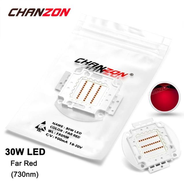 30w led light bulb lamp far red 730nm 1820v 900ma high power 30 w watt epileds grow chip integrated 30watt cob for plant flower