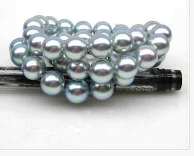 HUGE AAA11mm round south sea silver grey pearl necklace 18inch 925s>Selling jewerly free shipping