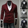 SpringAutumn 2017 New Retro Style Single Breasted Men Cardigan V-Neck Sweater Fashion Casual Slim Solid Color Pull Homme Sweater