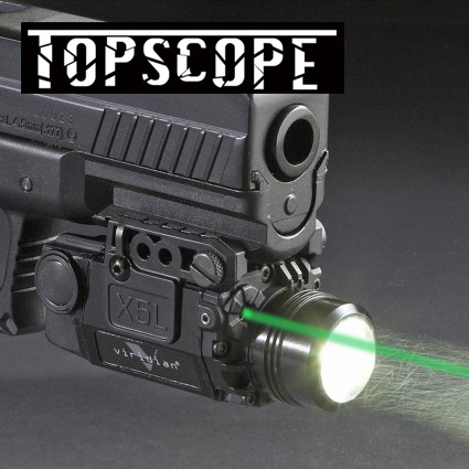 Blackout Tactical Pistol Handgun Weapon Flashlight with Green Laser Dot Sight fit 20mm Weaver Rail for Glock 17 19 hunting compact tactical green laser sight flashlight combo low profile pistol handgun light with 20mm picatinny rail