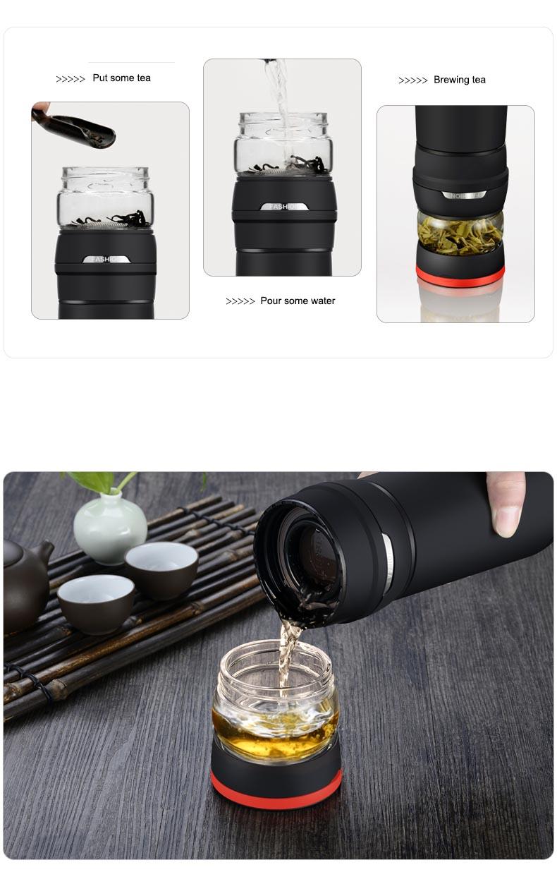 Frascos de vacío portátiles al aire libre de 550 ml Termos | Taza - Cocina, comedor y bar - foto 3