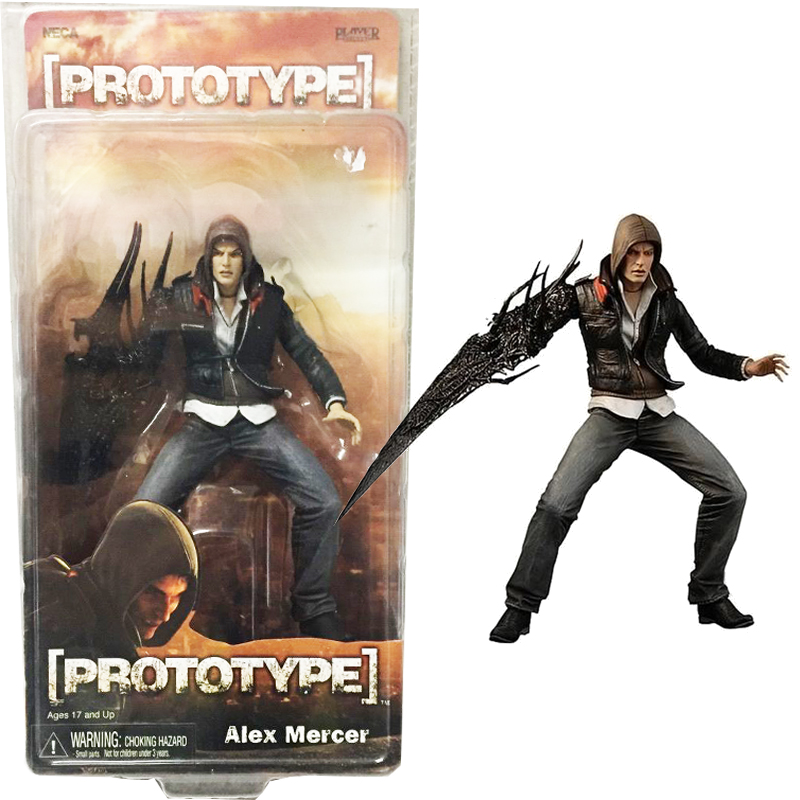 18 cm NECA Prototype Alex Mercer PVC Action Figure Collection Modèle Jouet AC007