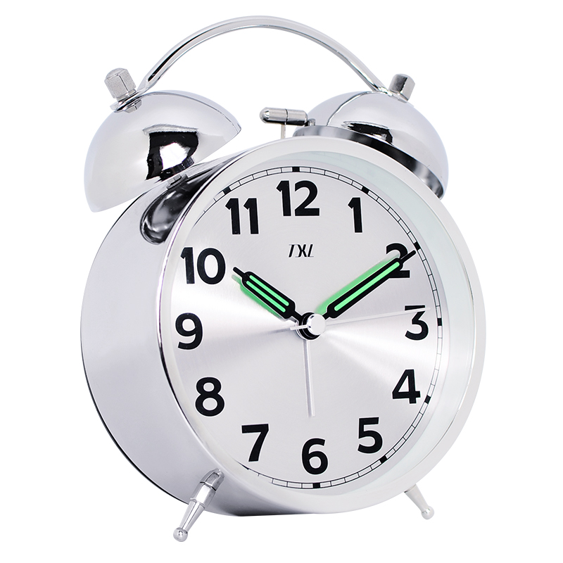 Luminous pointer, Metal Bells loud Alarm clock, Silent Student clocks, 4.5 inches Rose Gold, Silver, vintage bronze 2018 New