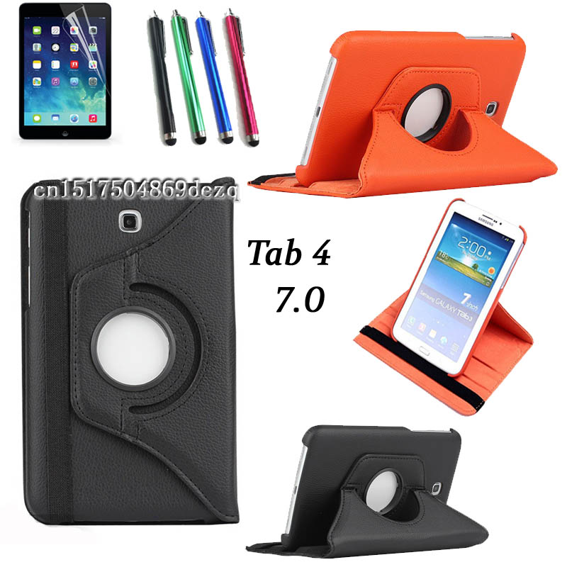 HOT high quality Rotating Stand Case For Samsung Galaxy Tab 4 7 0 T230 T231 T235
