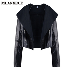 Black Leather Jacket Women Winter Turn-down Collar Jackets Ladies Fashion 4XL Plus Size Coat Female Long Sleeve Casaco Feminino