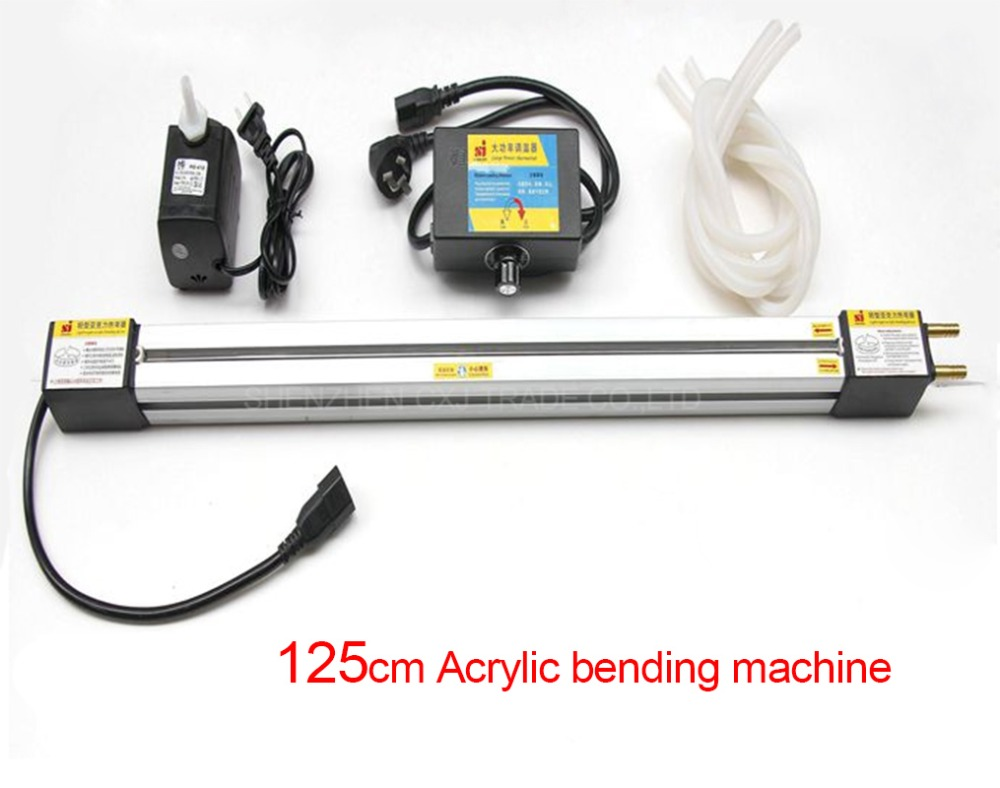 Livraison Gratuite 1 pcs 125 CM Acrylique machine À Cintrer pour organique en plastique plaques, Acrylique PVC panneau En Plastique De Flexion Dispositif machine