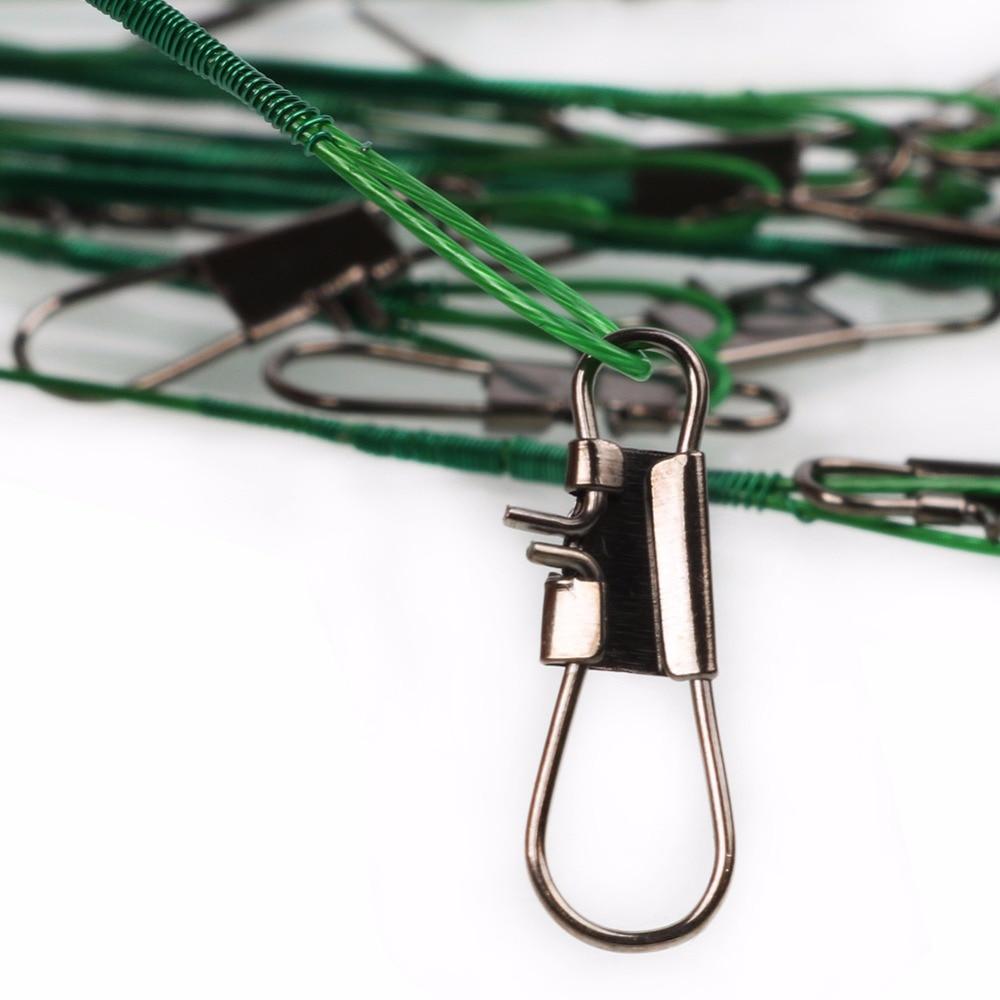 Sougayilang 100pcs 5Colori Oțel de pescuit de cablu 13cm 15cm 18cm - Pescuit - Fotografie 5