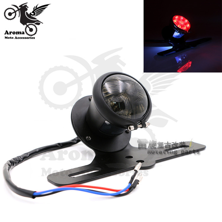 3 colors available red smoke lens motorcycle warning signal light with bracket moto turn signal light unviersal motorbike LED