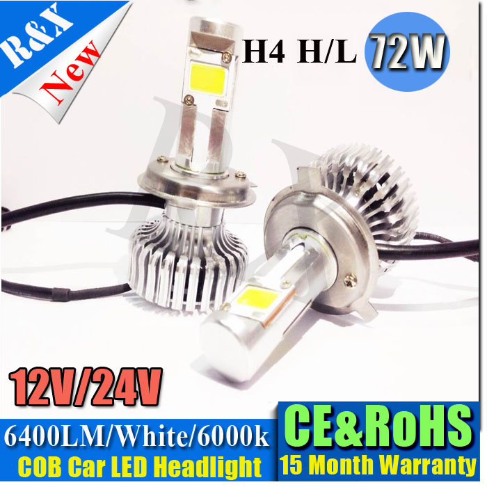 Super Bright! 2PCS Auto Car COB H4 Replacement LED Headlight Kit Bulb Hi Lo Beam 36W 3200lm 6000K 12V 24V Xenon White шессе ж двойник святого желтые глаза