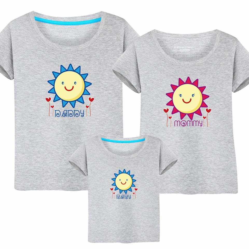 bab32cc06b Plus Size Family Matching Outfits Father Mother Daughter Son Clothes Look T-shirt  Daddy Mommy