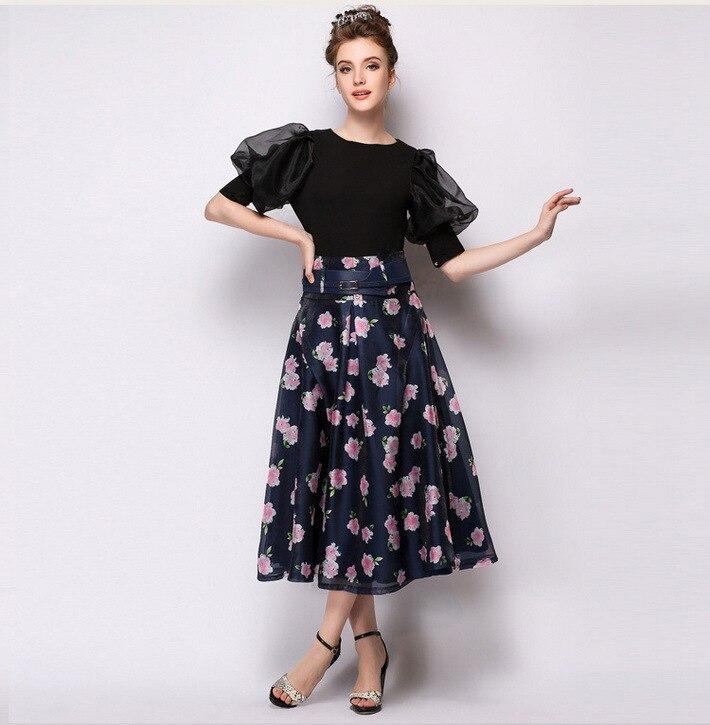 High Waisted Long Flowy Skirt - Skirts
