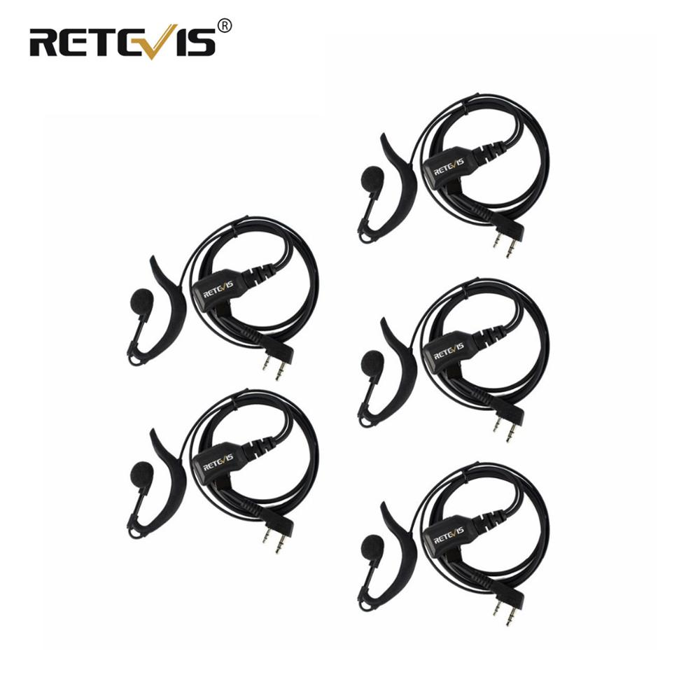 5 Pcs Adjustable Volume Earphone PTT Headset Cb Radio Accessories For Kenwood For Baofeng UV-5R 888S Retevis RT5R H-777 RT22 RT5