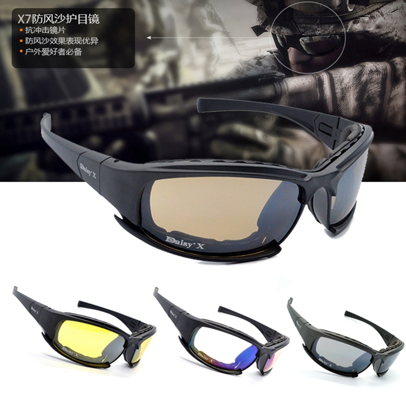 Hot Sale Tactical Glasses X7 Military Polarized Sunglasses Men Airsoft Goggles Outdoor Shooting Hunting Sport For Hiking Camping