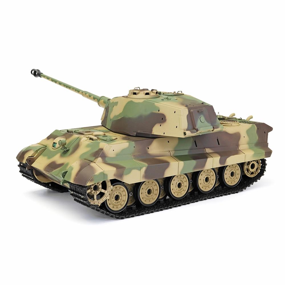 Henglong 3888A -1 1/16 2.4G German TigerKing Henschel Rc Battle Tank Smoking Sound Plastic One Toys Gifts for Kids henglong 3888 1 3888a 3889 1 3899a 1 3908 1 3909 1 3918 1 3938 1 1 16 rc smoking tank 2 4g remove controller 2 4g receiver