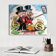Alec Monopoly Mike Mozart Man Wall Art Canvas Painting Posters Prints Modern Pictures For Living Room Home Decor