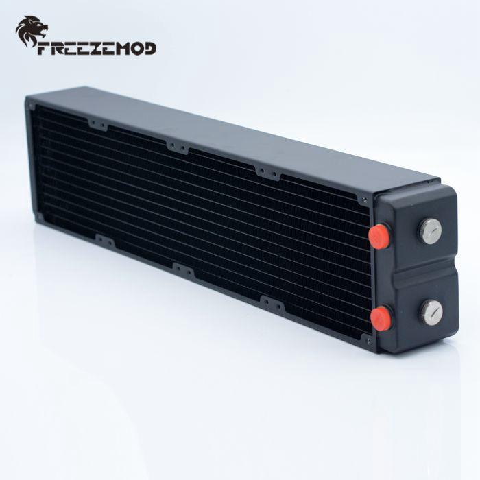 FREEZEMOD Computer Water Cooling Copper Radiator 3 Layers 65MM Thick Copper Fins Five Holes G1/4. TSRP-HP65-480
