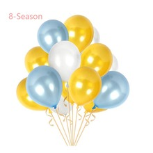 15PCS Blue Birthday Latex Confetti Balloon Baby Party Supplies Wedding Gifts For Guests Mariage Balonnen Home Decoration