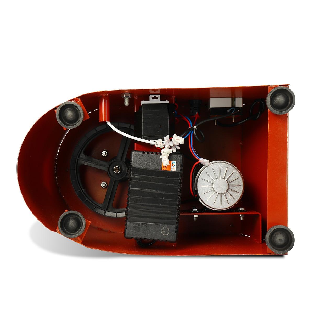 25 cm AC 110 V/220 V poterie roue Machine céramique travail céramique argile Art avec pédale Mobile métal + alliage d'aluminium 42x52x35 cm - 6