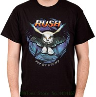 Rush Fly By Night 2 Мужская черная футболка мужская футболка с принтом хлопковая футболка с коротким рукавом
