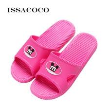 ISSACOCO 2019 Shoes Woman Slippers Sandals Women Summer Cartoon Animation Bathroom Home Zapatillas Pantufa Terlik