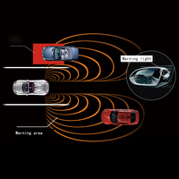 car BSD BSM microwave sensor blind spot mirror w 2 led alarm indicator mirror OE for Toyota Blind Spot Detection security system