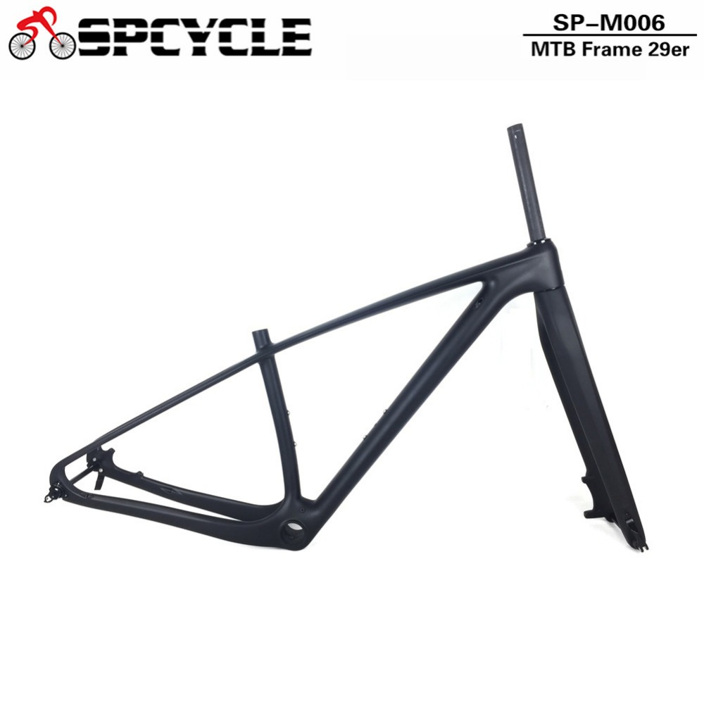 Spcycle 29er T1000 Carbon MTB Frame Fork Set 142*12mm Thru Axle Carbon Mountain Bike Frameset 27.5er Carbon MTB Bicycle Frame 2017 flat mount disc carbon road frames carbon frameset bb86 bsa frame thru axle front and rear dual purpose carbon frame