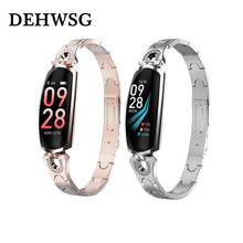 Women Smart Bracelet Sport Tracker Heart Rate Blood Pressure Watch Fitness Tracker Smartwatch Bluetooth Connect For Android Ios(China)
