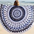 Sunflower Tassel Round Beach Towel Cotton Tablecloth Beach Towel Round Yoga Mat