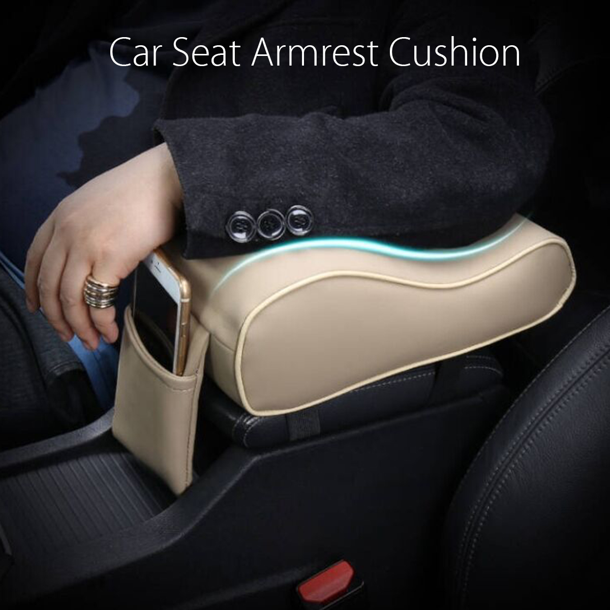 Autoleader PU Leather Car Armrest Pad Universal Auto Armrests Car Center Console Arm Rest Seat Memory Foam Rest Pillow Armrest-in Armrests from Automobiles & Motorcycles