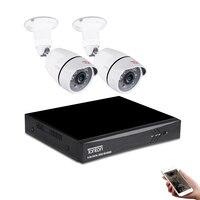 Tonton 1080 P HDMI DVR FULL HD наружная домашняя камера безопасности Система 4CH CCTV видеонаблюдение DVR комплект 2 шт. 2MP камера комплект