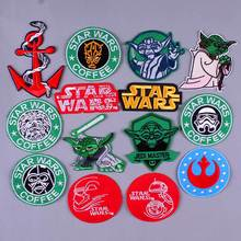Pulaqi DIY Starwars Patch Embroidered Patches Iron On Space Punk Style Stickers Diy Appliques Garment Accessories H