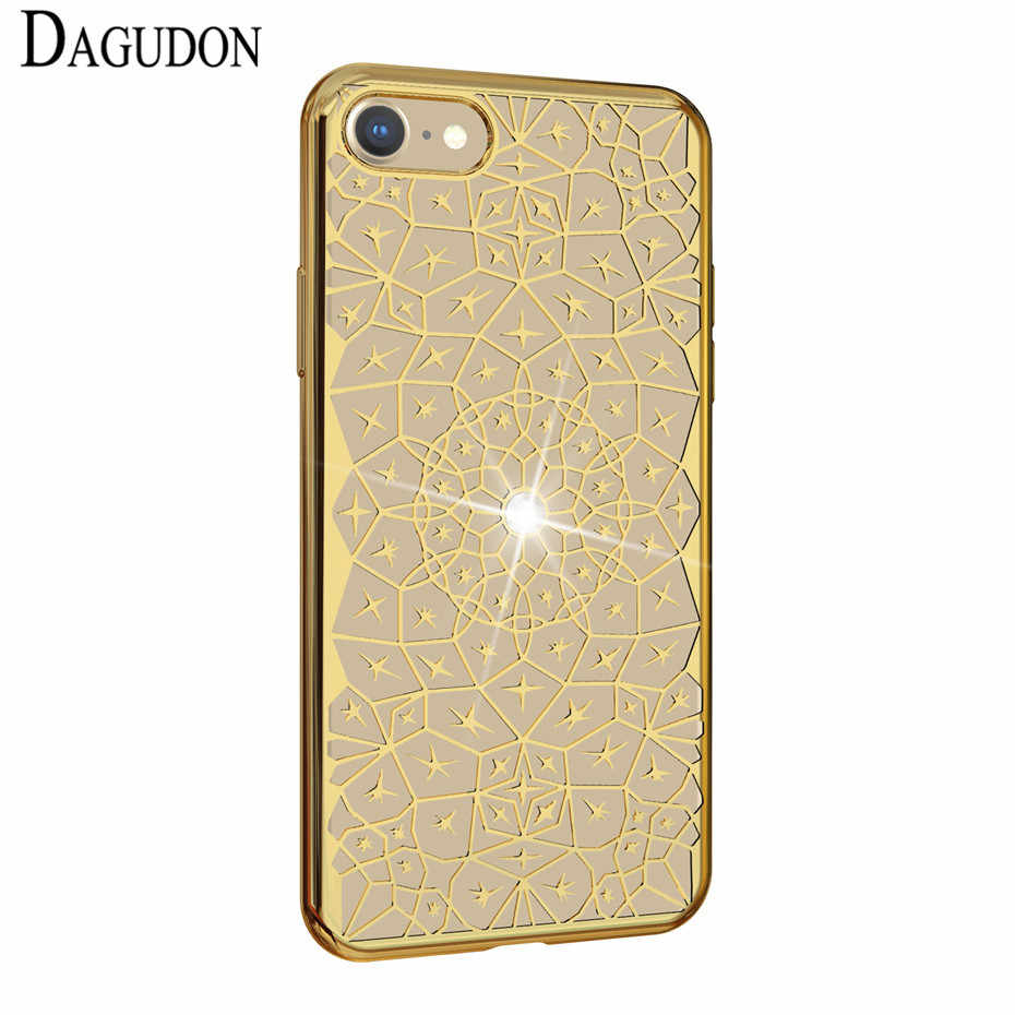 DAGUDON Bling Case Voor Samsung Galaxy J2 J3 J5 A3 A5 A8 2016 2017 Prime 2018 Diamond Silicone Gevallen Voor iPhone 7 8 X Back Cover