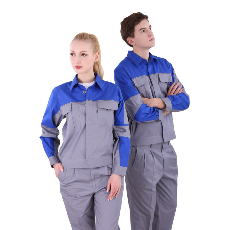 2019 Unisex knitted reflective Work clothes Fashion stitching plus size quick dry windproof polyester cotton sets Jacket+pants2019 Unisex knitted reflective Work clothes Fashion stitching plus size quick dry windproof polyester cotton sets Jacket+pants