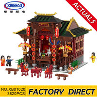 Xingbao 01020 Classic Traditional Chinese Peking Opera Stage Compatible with lepin City Building Blocks Bricks 3820 Pieces