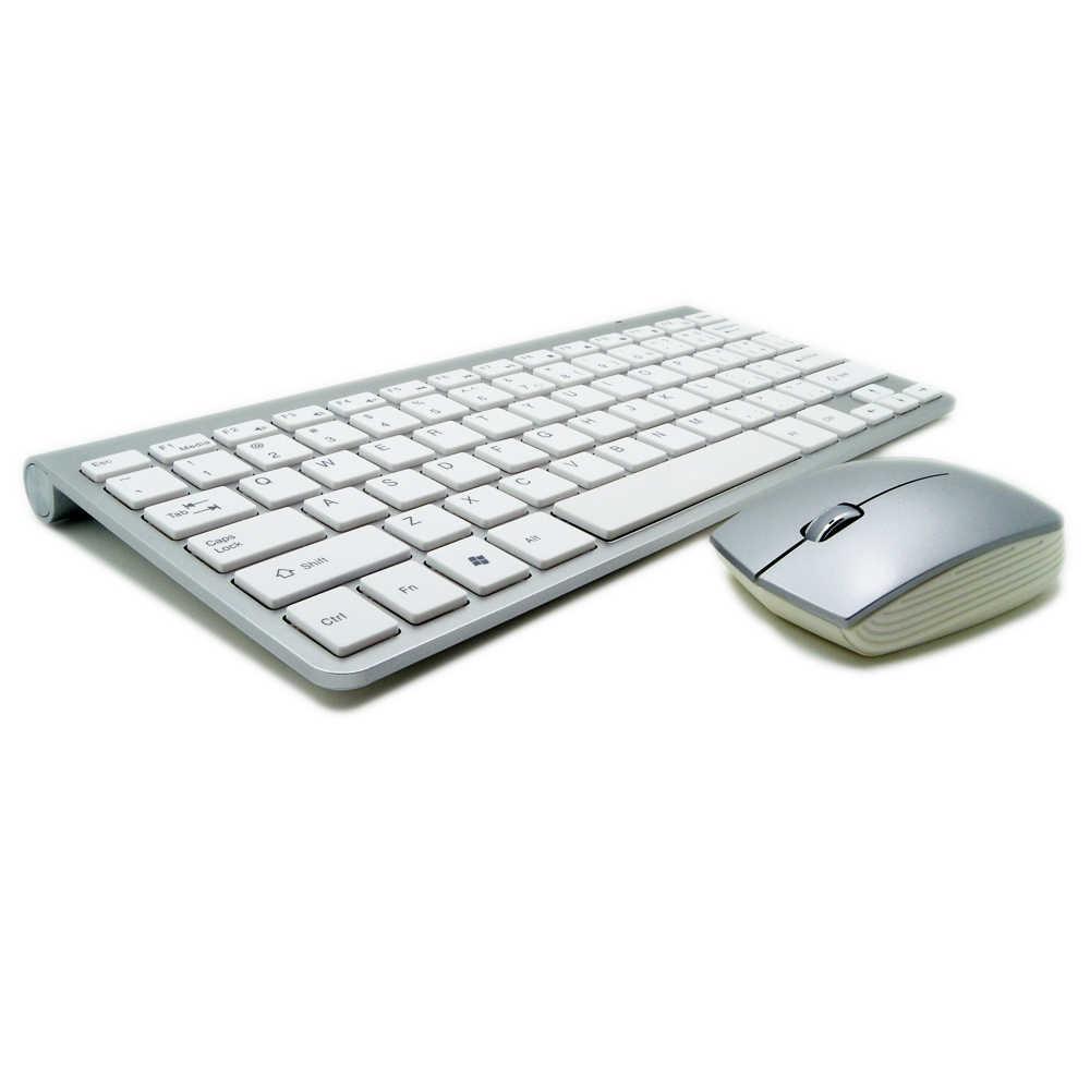 Portable Ultra-mince entreprise 2.4G sans fil clavier souris Combo sans fil souris 1200 dpi pour Mac Win XP/7/8/10 Android Tv Box